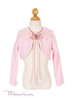 Pink Simple Fleece Bolero Jacket