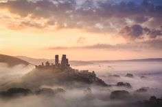 Fall's gold: Corfe Castle, UK