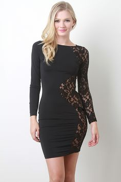 In love with lace? this dress is perfect for a night out with the girls