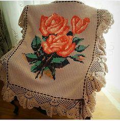 Muhteşem Afrika çiçekleri tığ işi (hediye yatağı örme master class) 12
