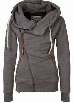 Naketano Side Zip Gray Hoodie