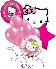 LoonBalloon HELLO KITTY Cat Polka Dots Pink (10) Birthday Party Mylar  #HelloKitty