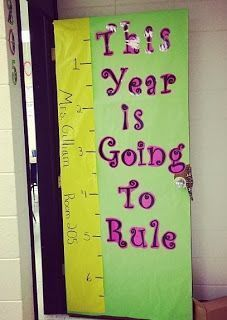 A cute math themed back to school bulletin board! Also, could make a good reference when teaching measurement and fractions.