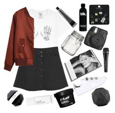 """""""Untitled #254"""" by obrien91 ❤ liked on Polyvore featuring Zoe Karssen, Monki, Rizzoli Publishing, Topshop, Grown Alchemist, Crate and Barrel, Fujifilm, Sennheiser, adidas and House Doctor"""