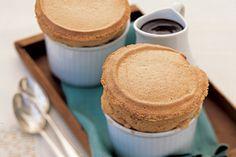 Coffee Souffles with Mocha Sauce