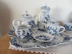 The Welcomed Guest: Blue Danube Birthday Party Blue Danube China, Blue And White China, Blue China, Love Blue, White White, Blue And White Dinnerware, Blue Dinnerware, Silver Tea Set, Blue Onion