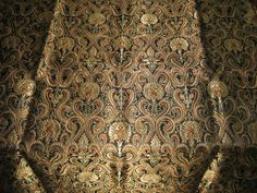 Pure Heavy Silk Brocade Fabric ~absolutely gorgeous
