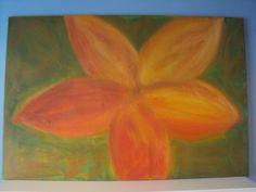 Wedding Flower acrylic painting on large by HunnybearsandTrees