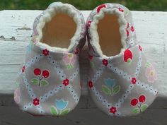 Baby Shoes Baby Slippers baby Girl Gray by LilSweetiePies on Etsy