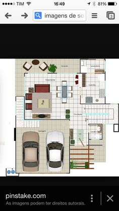 Planta baixa sobrado House Plans, Floor Plans, How To Plan, Two Story Houses, Home Plans, Facades, Plants, Architecture, Blueprints For Homes