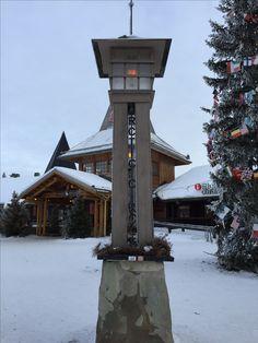 The Arctic Circle @Santa Claus Village, Rovaniemi, Finland