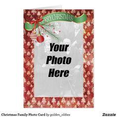 Shop Christmas Family Photo Card created by golden_oldies. Custom Christmas Cards, Christmas Greeting Cards, Christmas Photos, Family Christmas, Holiday Cards, Holiday Essentials, Custom Photo, Photo Cards, Family Photos