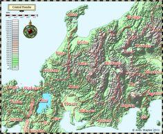 Tässä on lähialueiden topografiaa