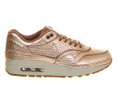 Nike Air Max 1 (l) Bronze Metallic Cut Out - Hers trainers