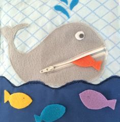 Zipper Whale Quiet Book Page PDF Pattern                                                                                                                                                                                 Plus