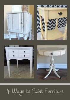 4 Ways To Paint Furniture