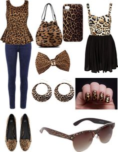 """Leopard Outfit"" by symphonyisawesome ❤ liked on Polyvore"