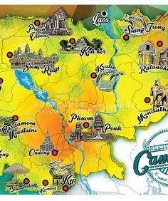 Cambodia mapcard by AG