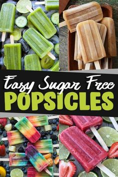 Easy and refreshing sugar-free popsicles recipes. It's easy to stay healthy during hot, summer days. Perfect for Keto, Paleo, Diabetics, Gluten-Free. Sugar Free Ice Pops, Sugar Free Popsicles, Frozen Popsicles, Watermelon Popsicles, Healthy Popsicles, Sugar Free Deserts, Sugar Free Fruits, Sugar Free Snacks, Sugar Free Recipes
