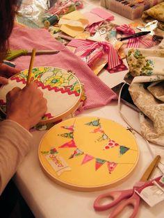 embroidery hoop art idea