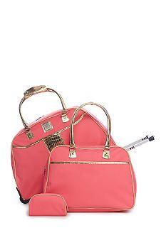 New Directions® 3-Piece Coral Gold Trim Luggage Set