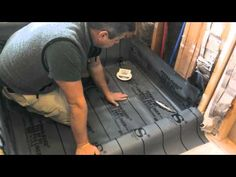 """How to waterproof and tile walk-in tile shower DIY- step by step instructions - part """"1"""" of 2 - YouTube"""