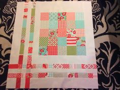 Dizzy Quilts: WIP Wednesday - A Vintage Modern Baby Quilt