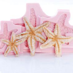 Starfish Seashell Silicone Mold Set Fondant Chocolate Resin Clay Soap Wax 250   eBay