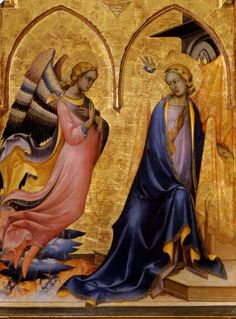 Angel panel from the Annunciation Tryptic by Lorenzo Monaco, Italian 15th century.