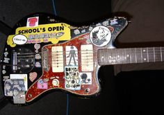 "From Sonic Youth's website: ""Hi—Thurston Moore had his 1966 (circa) Fender Jazzmaster stolen from the Best Western in Philadelphia (501 N 22nd St) last night 12-12-12 around 12 midnight. It's Thurston's iconic Sonic Youth black Jazzmaster with all the stickers on its body. A police report has been filed. Please email us if anyone tries to sell this relic to your store, it would be appreciated. Pl..."