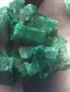 Raw Zambian Emeralds, beautiful in its natural state Zambian Emerald, Emeralds, Amethyst, Crystals, Natural, Pretty, Beautiful, Art, Art Background