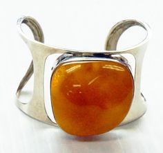 BALTIC AMBER BRACELET sterling silver massive raw by ANTIQUE4YOU