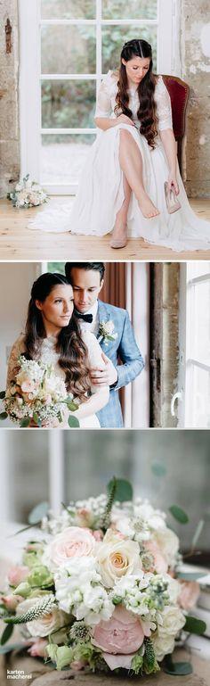 Gehören bei euch Rosen in den Brautstrauß? Habt ihr schon Ideen, für welches Kleid ihr euch entscheidet? Findet hier Inspiration für eure perfekte Vintage Hochzeit.