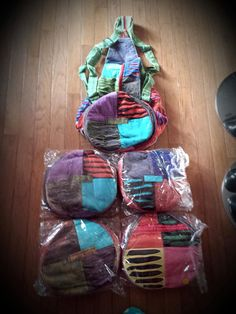 Tye Dye Hipster Homemade Book Bags by jewelspassport on Etsy