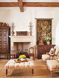 like these rustic beams...not the living room.....