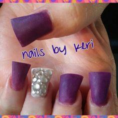 Purple & nude matte finish nails. NAILS BY KERI.