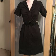 "$3 🚩LAST CALL🚩 career  black dress Size small black belted dress. Perfect wear for the office. Measures approx 33"" in length. Items with ""last call"" in title are all $3.00 The catch is that you must bundle the items with the bundle equaling at least $9.00. More than 3 items? I'll give you a better deal.   Here's how it works:  Add items to the bundle when you're all done tag me in a comment and I will make a post including your bundled items with the discounted price included. Dresses Midi"
