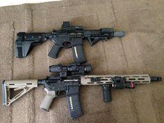 Bag full of guns Custom Glock, Weapon Storage, Ar Pistol, Battle Rifle, Weapon Of Mass Destruction, Tactical Gear, Tactical Firearms, Assault Rifle, Military Weapons