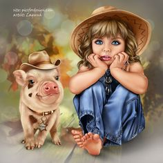 country_girl_with_a_piggy_2.jpg