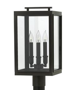 "Hinkley Lighting Sutcliffe 3 Light 20"" Outdoor Post Lantern Set"