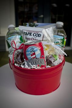 cape cod out of town welcome basket, wedding guest welcome gift