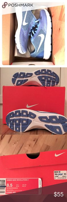 BNWT Nike revolution 3 sneakers Brand new, never worn, shipped in original box and packaging. Nike Shoes Sneakers