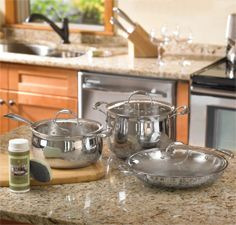 Princess House Cookware! Love it! Stainless steel and Crystal!