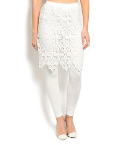 Look at this #zulilyfind! White Skirted Leggings #zulilyfinds ($18)