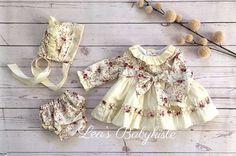 Baby Mdchen Set Gre 50/56 NEU Handmade, € 40,- (8401 Kalsdorf bei Graz) - willhaben Floral Tops, Rompers, Dresses, Women, Fashion, Silk Ribbon, Baby Sewing, Little Dresses, Cotton Fabric