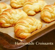 Homemade Croissants - Made entirely by hand. After these, store bought no more. Yummers!