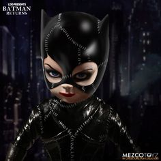 LDD Presents Batman Returns: Catwoman Living Dead Doll Batman Returns introduced Tim Button's iconic version of Catwoman to movie going audiences and they were drawn to her like catnip.Now Catwoman joins the LDD Presents family with a doll that All Batmans, Ever After Dolls, Catwoman Cosplay, A Girl Like Me, Living Dead Dolls, Batman Returns, Michael Keaton, Homemade Black, Gothic Dolls