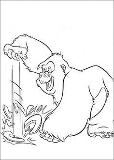 Tarzan Målarbilder för barn. Teckningar online till skriv ut. Nº 13