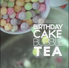 Bubble tea - Live like it's your birthday every day. Fun Drinks, Yummy Drinks, Healthy Drinks, Delicious Desserts, Yummy Food, Beverages, Tasty, Tea Recipes, Dessert Recipes