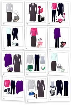 """Winter palette - Oct 2014. Capsule Wardrobe 10 pieces (12 looks in pictures). I recently had a client approach me, Kettlewell brochure in hand, panicked look on her face. """"What do I need?"""" There's so much in here, and so much colour and I don't know where to start!"""" She anno..."""